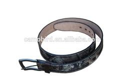 Camouflage Hunter Belt Outdoor Hunting Camo Leather Belt for Hunter