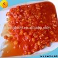 Lata de tomate en el jugo de tomate chino aplastado estaño tomates cherry secos