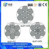 6x37+FC 6x37+IWS 6x37+IWR Fiber Jute Core Wire Ropes
