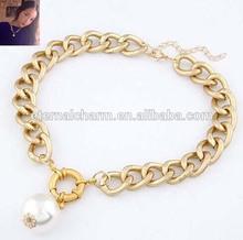 2015 fahion wholesale statement necklace plain chain