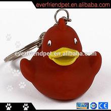 Rubber Lanyard Keychain Duck Toys
