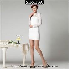 Charming good quality lace sleeve a line dress