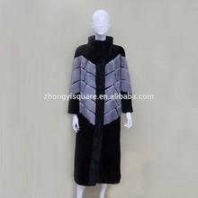 China online shopping hot sale long natural mink fur coat