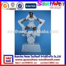 wholesale custom new design resin little boy soccer toys player figure