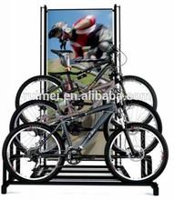 Popular 3 Tiers Free-standing Stainless Steel Bike Rack