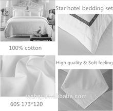 100%cotton Hotel Plain Sheet Set Hotel bedding set