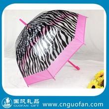 Fashion rain transparent dome umbrella brolly