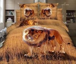 Animal Lion Printed 3D Duvet cover Set HIgh Quality 3D Printed Bedding sets home use