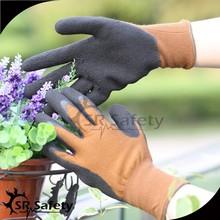 SRSAFETY 13g nylon super soft foam latex work glove/hand glove