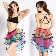 Nuevo baile de Organza de colores de la burbuja de la falda con Sexy fotos de mujeres maduras con falda corta SV008602