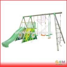 Wooden Swing accessories with slides glider