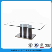 Glass top center table design for tempered glass coffee table
