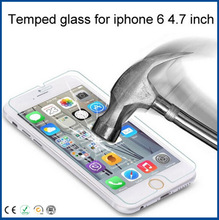 high quanlity tempered glass screen protector for iphone 6 4.7 inch screen protector mobile accessory accept Paypal