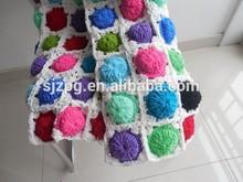 2015 Fashion Hand made Knit Crochet Baby Blanket, Crochet cotton Baby blanket