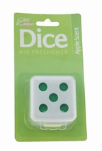 Apple scent dice shape gel air freshener Car/Home