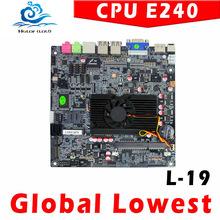 Factory price! hot selling! atom e240 mini pc motherboard, mini itx motherboard, fan mini itx motherboard