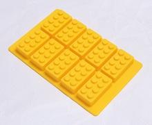 Lego building bricks designed silicone ice cube tray