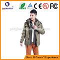 2015 los hombres de moda estilo ropa, eléctrico de calefacción resistente chaqueta
