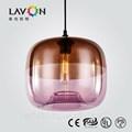 Cor roxa de vidro moderna luminária para sala de estar
