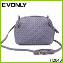 H2843 2015 New trendy design weave wowen handbag knit shoulder bags