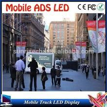 Full color ATM LED display truck /led billboard advertising