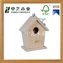 custom unfinished pet cages wood bird house with handle ropes