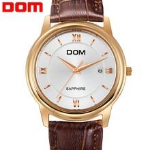 2015 new product vogue watch, Ultra-thin waterproof quartz watches men business casual wristwatch men genuine leather watch