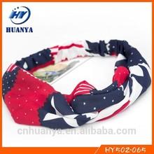 Messy bow headwraps weet honey headband America flag ladies hair bands