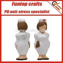 Custom logo nurse shaped anti stress figure toy