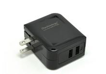 alibaba china 3.4A portable mobile phone charger, dual usb portable mobile phone charger with foldable us plug