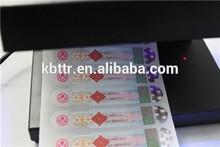 UV images under ultraviolet invisible security ribbon for zebra card printer
