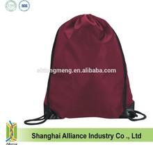 Lightweight Nylon Sport Ball Drawstring Backpack w/ Shoulder Straps