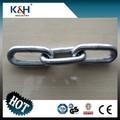 De buena calidad galvanizado din 763 ronda de cadena de acero enlace 19*119
