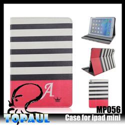 premium-grade color strip Original pu leather printing for ipad 6 case