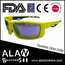 Sun glasses Motorcycle Biker Cruiser Polycarbonate Lenses glasses frame Yellow