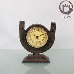 cast iron antique table clock for home decoration