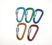 2015 novelty bulk aluminum carabiner hook for toy accessory wholesale