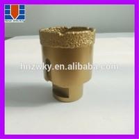 Vacuum brazed diamond core drill bits for granite/marble/concrete