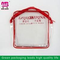 flexile packaing clear vinyl pvc bikini plastic bag with ziplock
