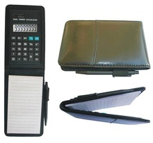 promotion gifts 8 digits notebook solar electronic calculator with ballpen