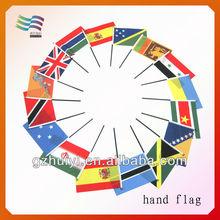 Custom hand waving held flag,politic election hand flag,paper flags football flags handheld