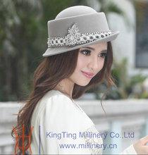Womens Mini Wool Felt Bucket Hat Custom Made Fedora Hat Wholesale