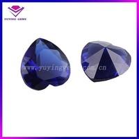 7*7mm Heart Cut rough Sapphire blue topaz 34# corundum