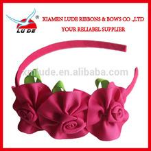 Latest Grosgrain ribbon bow hairband for girls hair accessories