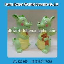 Fancy dragon design ceramic money bank