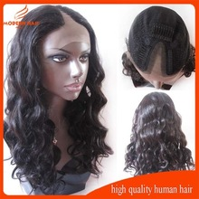 Factory indian remy human hair cheap wavy u part wig for black women