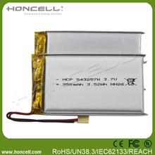 950mah lipo battery 543257 mini rechargeable battery syma x5c battery