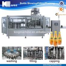 Fresh juice washing filling and sealing machinery