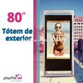 80 zoll outdoor einseitig digitalen plakat-display lcd-panel