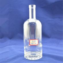 Premium high grade super flint empty clear Transparent glass bottle vodka